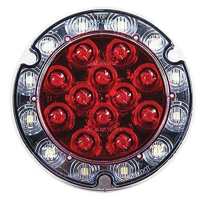 Maxxima Round Hybrid 21 LED Stop Tail Turn and Back Up Light, PigTails Included