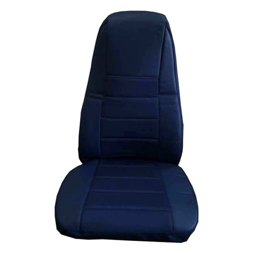 Incredible Blue Faux Leather Truck Seat Cover With Pocket Creativecarmelina Interior Chair Design Creativecarmelinacom