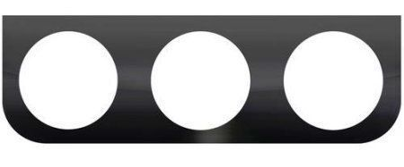 """Black L Mounting Bracket with 3 Round Holes for 4"""" Lights"""