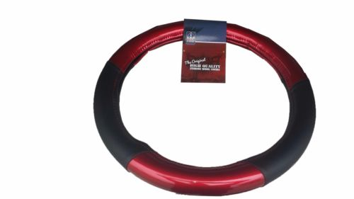 "18"" RED Steering Wheel Cover w/ Black Trim - Semi Trucks PB KW"