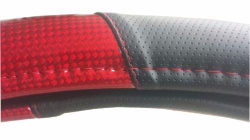 "18"" RED Steering Wheel Cover w/ Black Trim - Semi Trucks PB KW"
