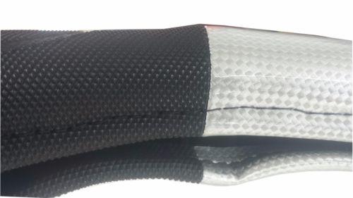"18"" CARBON FIBER w/ BLACK Trim (Deluxe) Steering Wheel Cover for Semi Trucks"