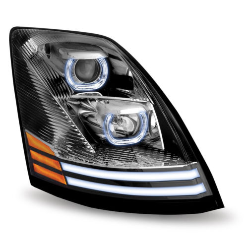 Volvo VNL Halogen Projector LED Headlight Chrome  (Passenger side) 2004 and up