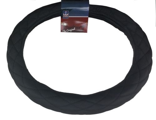 "18"" Diamond Cushion Black Steering Wheel Cover for Peterbilt Freightliner Semi Truck"