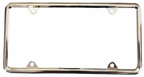 Chrome License Plate Frame Deluxe Light