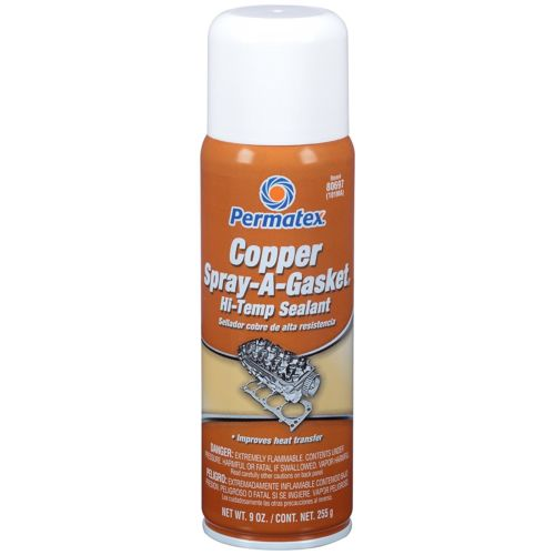 Permatex Copper Spray-A-Gasket Hi-Temp Adhesive Sealant, 9 oz. net Aerosol