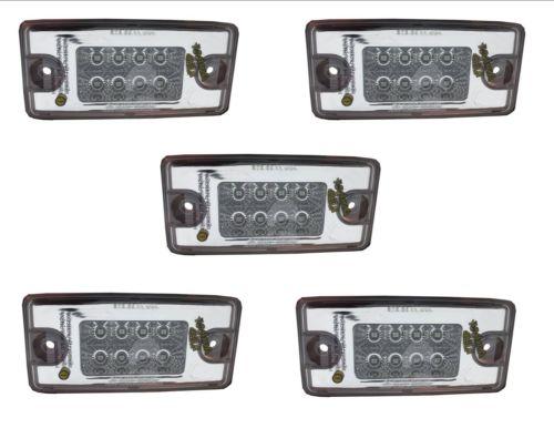 Freightliner Volvo Roof Cab Visor Marker Spyder  LED Light  Amber Clear Set of 5