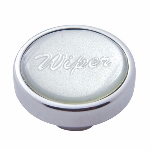 "UP Wiper Control Knob 1/"" Purple Glossy Sticker Chrome Aluminum Knob #23204 Each"