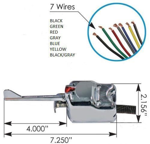 universal 7 wire chrome turn signal switch signal stat 901 7-wire turn signal diagram universal truck turn signal wiring diagram #8