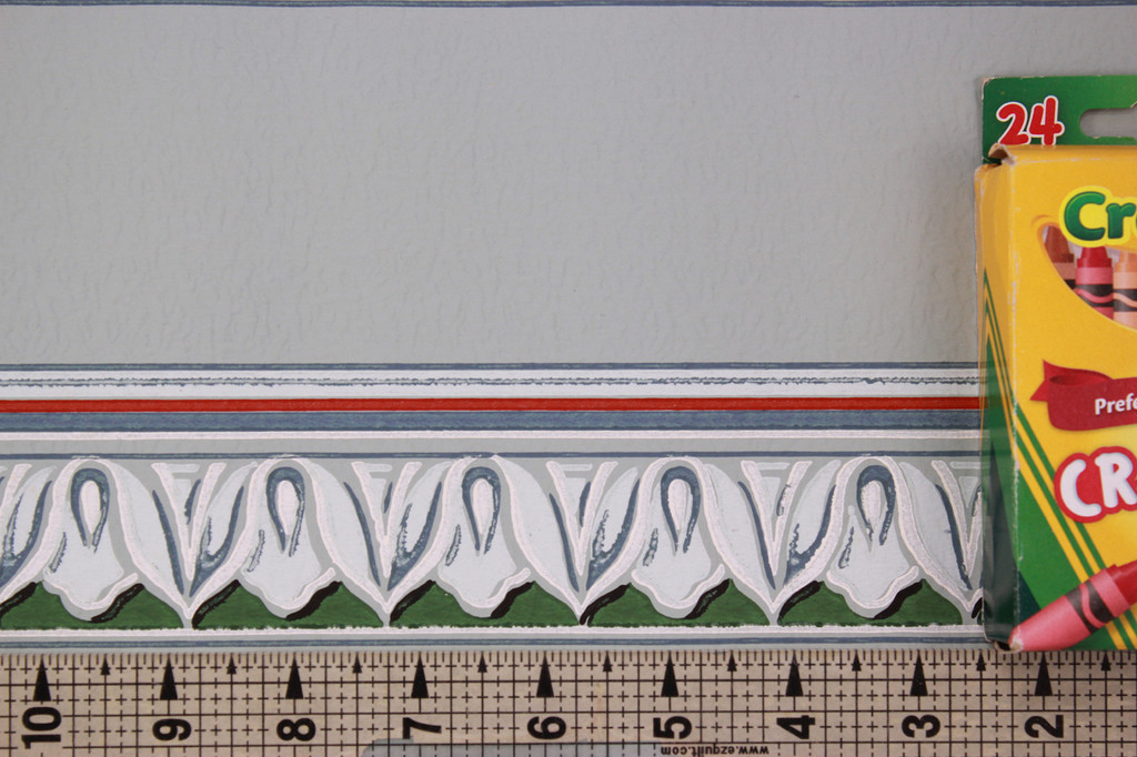 1940s Vintage Wallpaper Border Egg and Dart