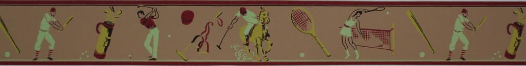 Duro Vintage Wallpaper Border Sports II