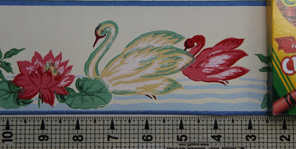 Eagle Vintage Wallpaper Border Swans