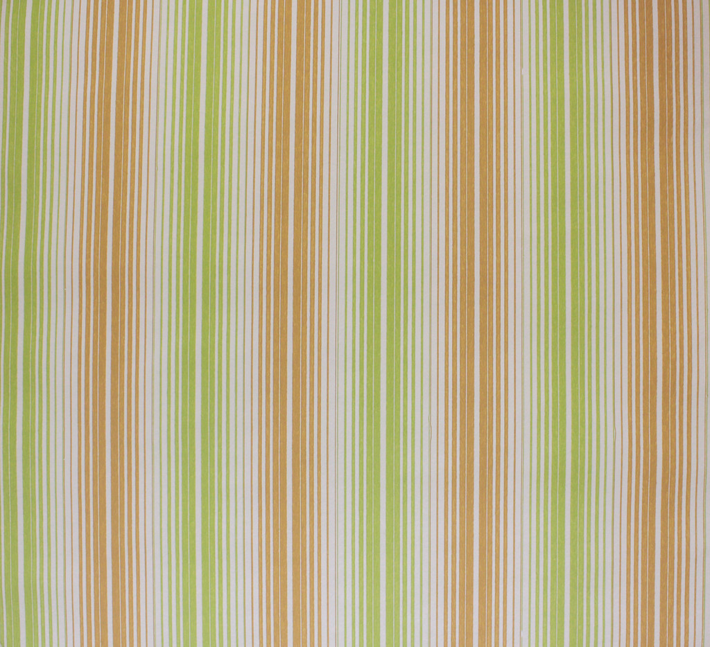 1970s Vintage Wallpaper Green and Brown Stripe