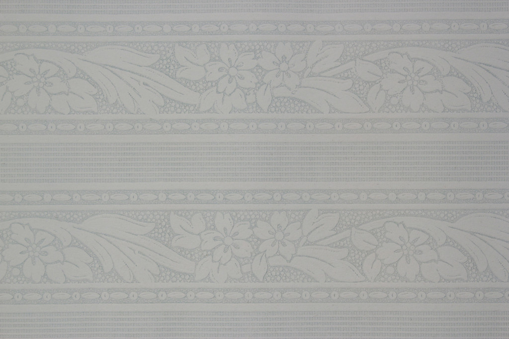 1930s Vintage Wallpaper Border Blue Textured