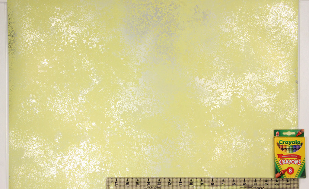 1970s Vintage Wallpaper Retro Mod Yellow Foil
