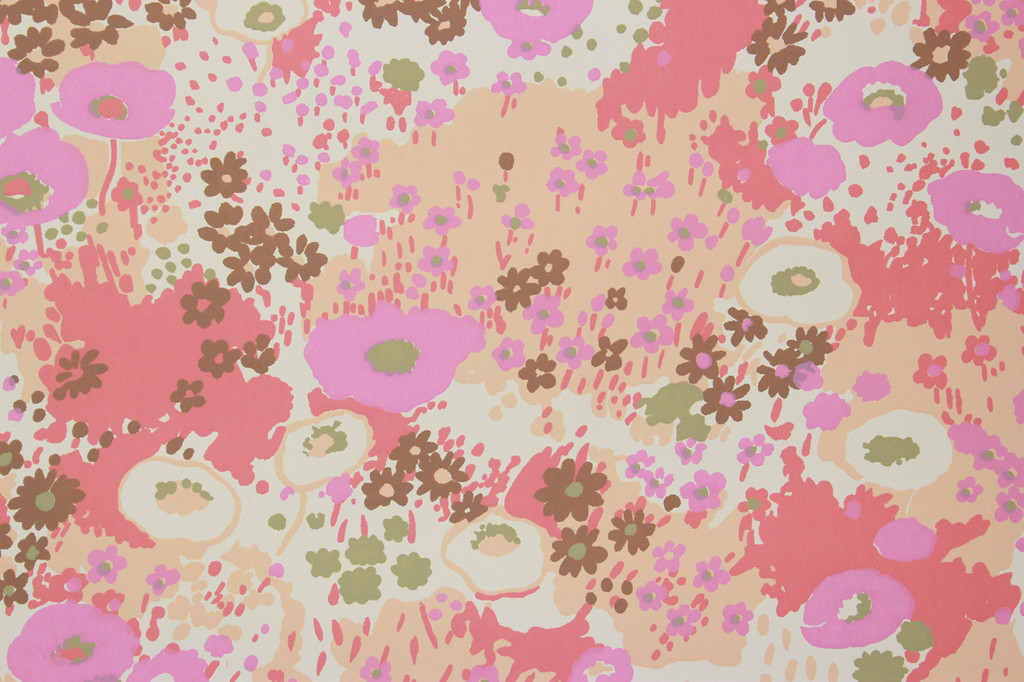 1970s Vintage Wallpaper Retro Floral