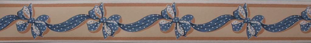Trimz Vintage Wallpaper Border Ribbonette Blue