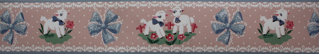 Trimz Vintage Wallpaper Border Lambsies