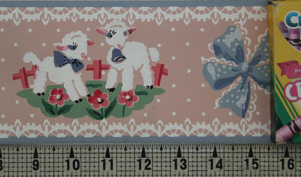 Trimz Vintage Wallpaper Border Lambsies