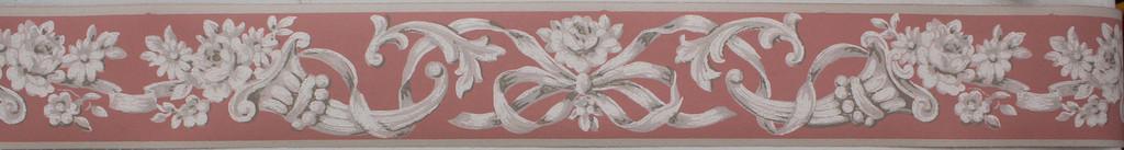 Trimz Vintage Wallpaper Border Empire Pink