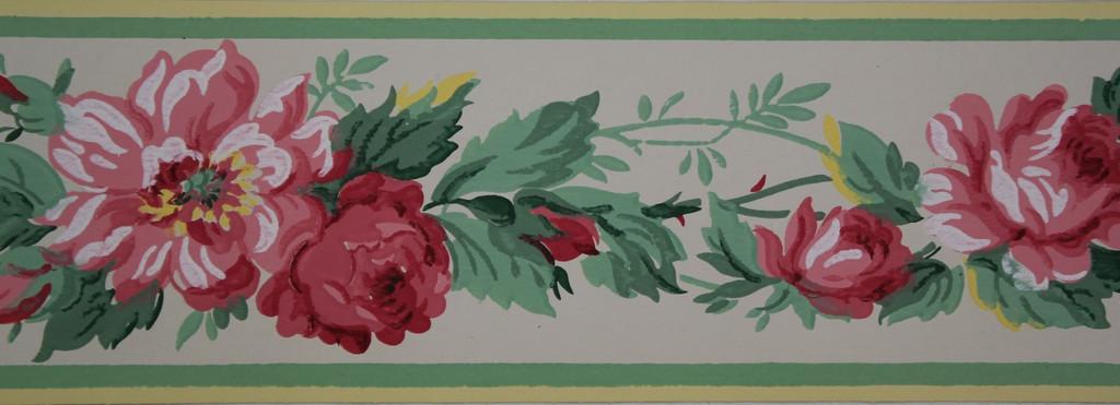 Trimz Vintage Wallpaper Border Rose Chintz