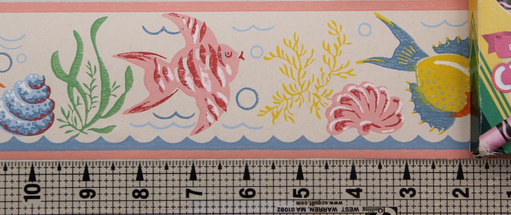 Trimz Vintage Wallpaper Border Fish