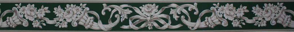 Trimz Vintage Wallpaper Border Empire Green