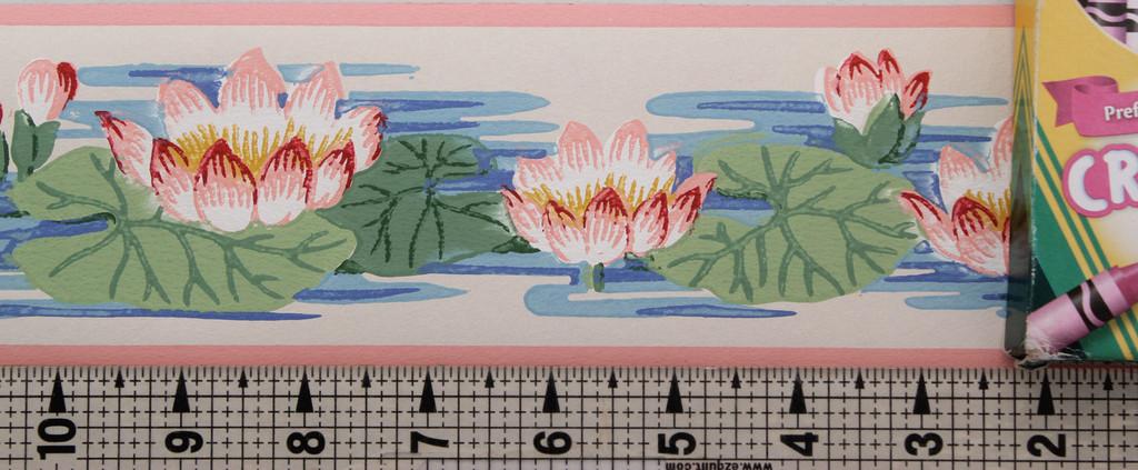 Trimz Vintage Wallpaper Border Lily Pad