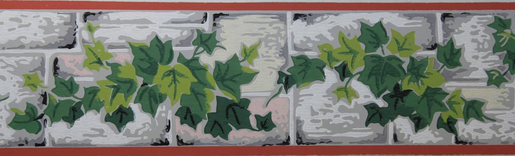 Trimz Vintage Wallpaper Border Ivy Wall