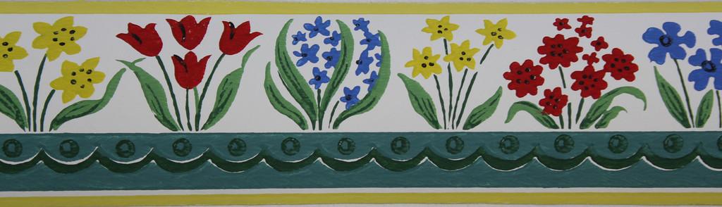 Trimz Vintage Wallpaper Border Flower Garden