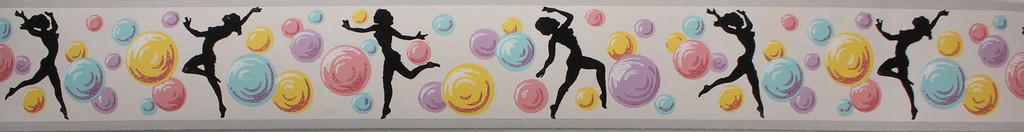 Trimz Vintage Wallpaper Border Bubble Dancer