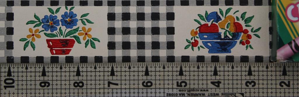 Trimz Vintage Wallpaper Border Gingham Black