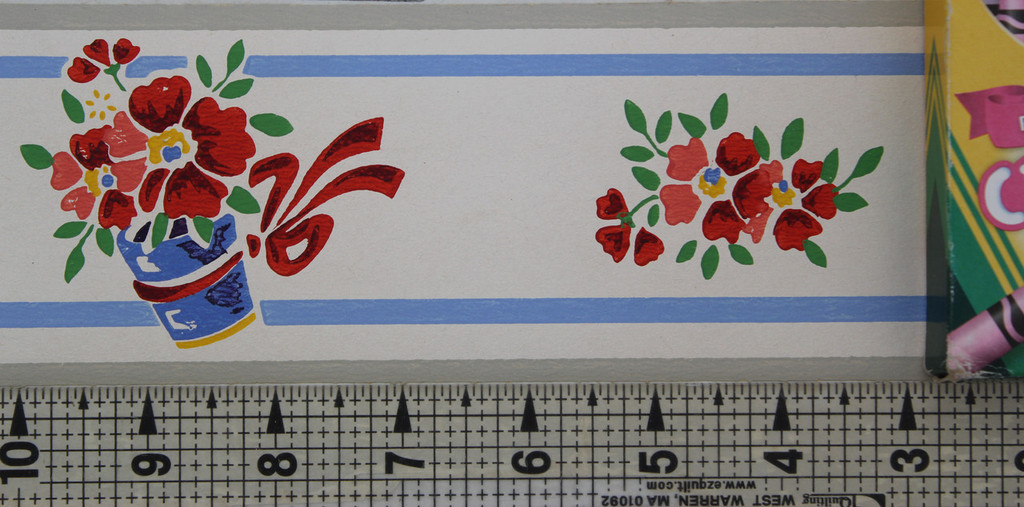 Trimz Vintage Wallpaper Border Red Phlox