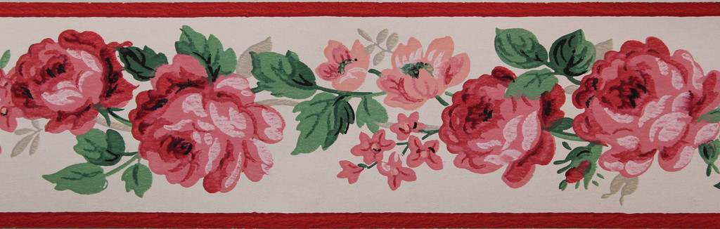 Trimz Vintage Wallpaper Border China Rose
