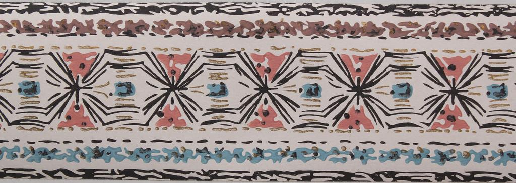 Trimz Vintage Wallpaper Border Tapa Cloth White