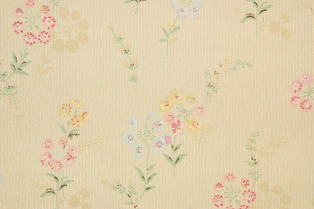 930s Vintage Wallpaper Spring Floral