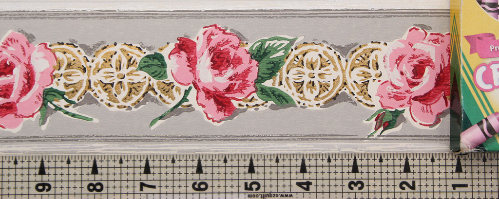 Trimz Vintage Wallpaper Border Rose Medallion