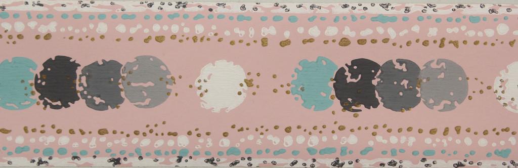 Trimz Vintage Wallpaper Border Dot Pink