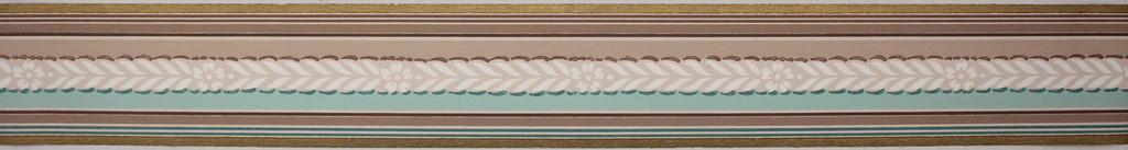 Trimz Vintage Wallpaper Border Colortone Aqua