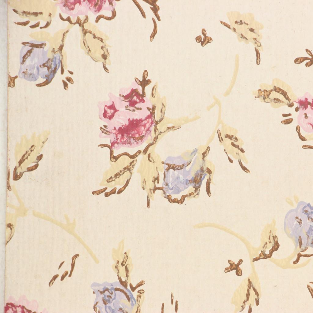 1960s Vintage Wallpaper Purple Mauve Roses