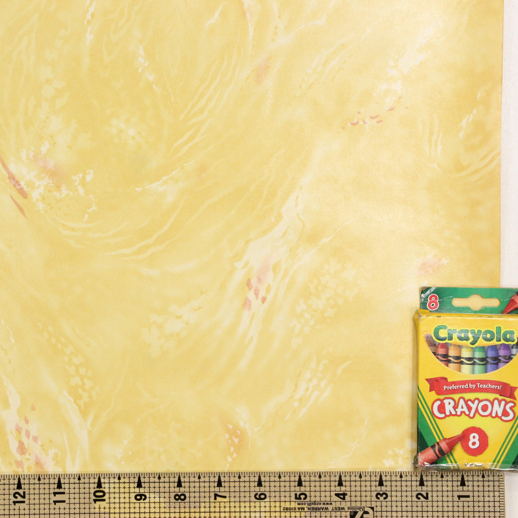 1930s Vintage Wallpaper Faux Marble Yellow with Pink
