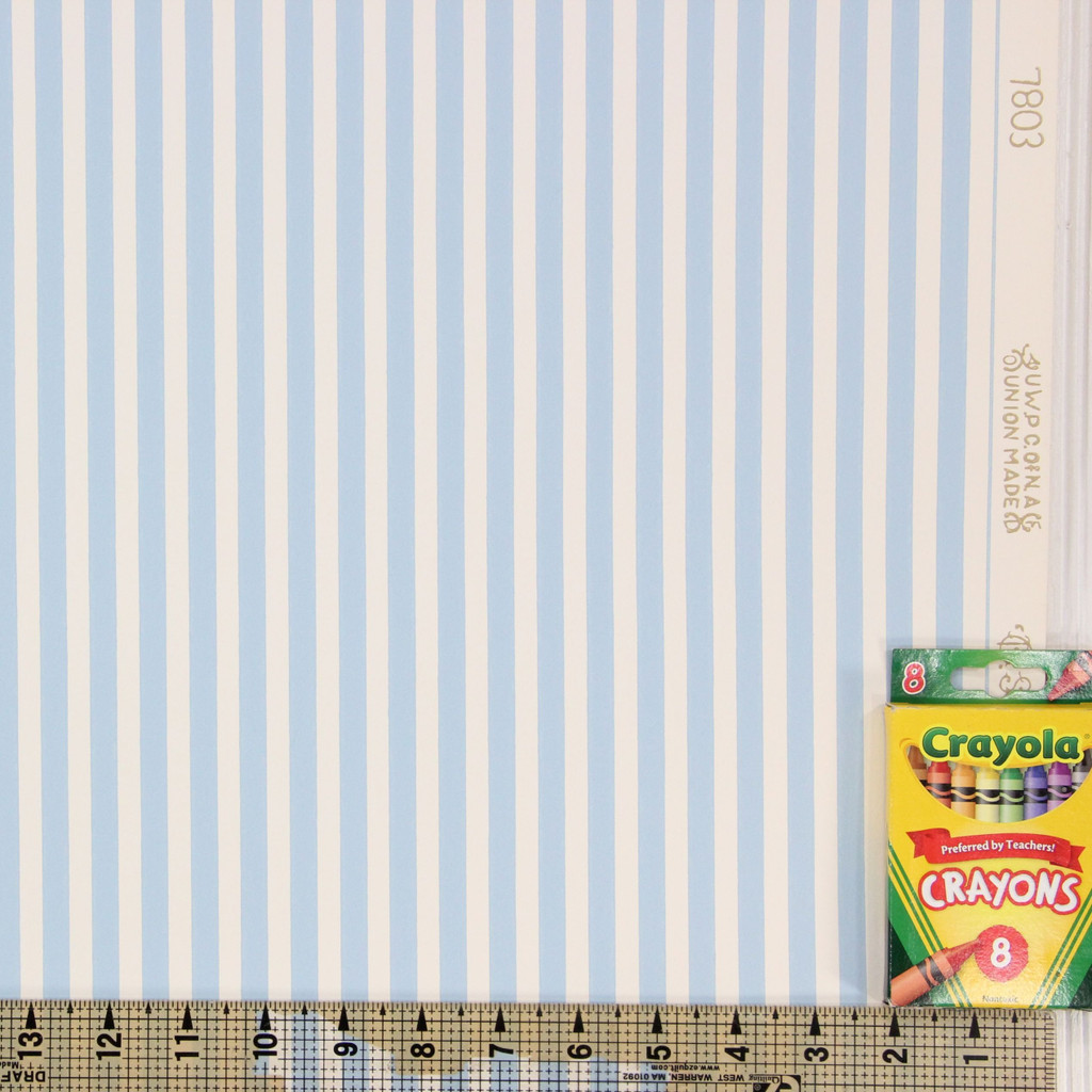 1950s Vintage Wallpaper Thomas Strahan Blue Stripe