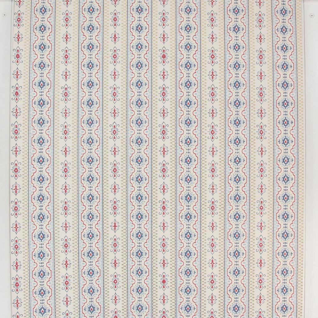 1970s Vintage Wallpaper Red Blue Stripe