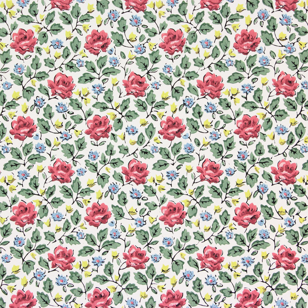 1950s Vintage Wallpaper Rose Vine