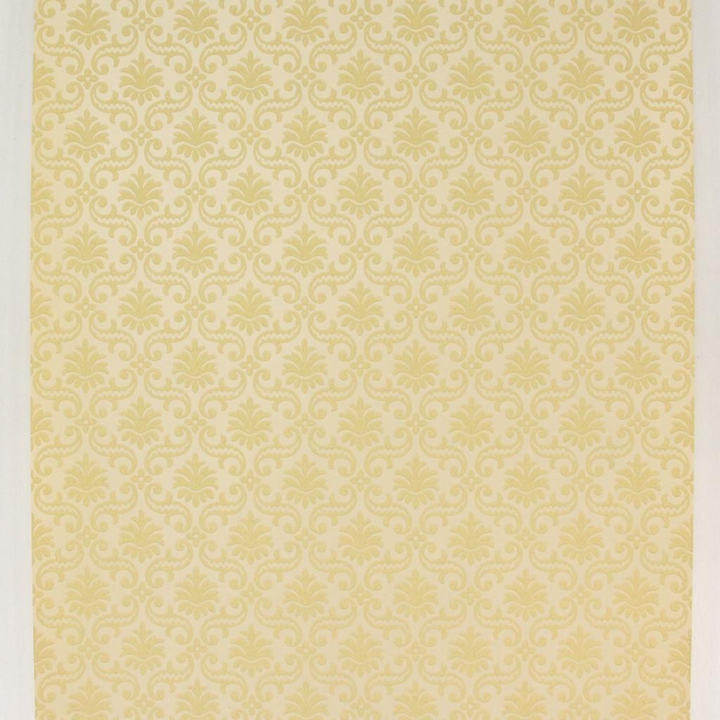 1950s Vintage Wallpaper Thomas Strahan Yellow Damask