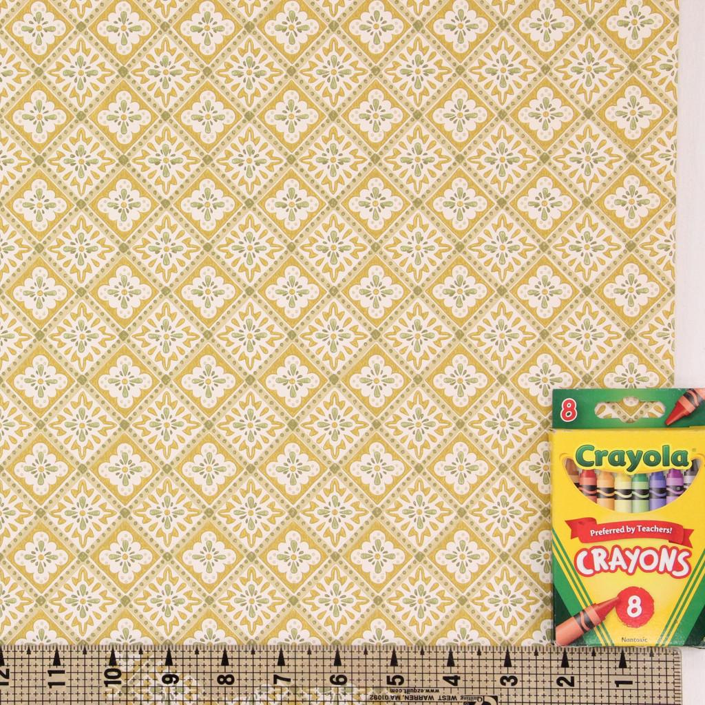 1950s Vintage Wallpaper Thomas Strahan Yellow Green Geometric