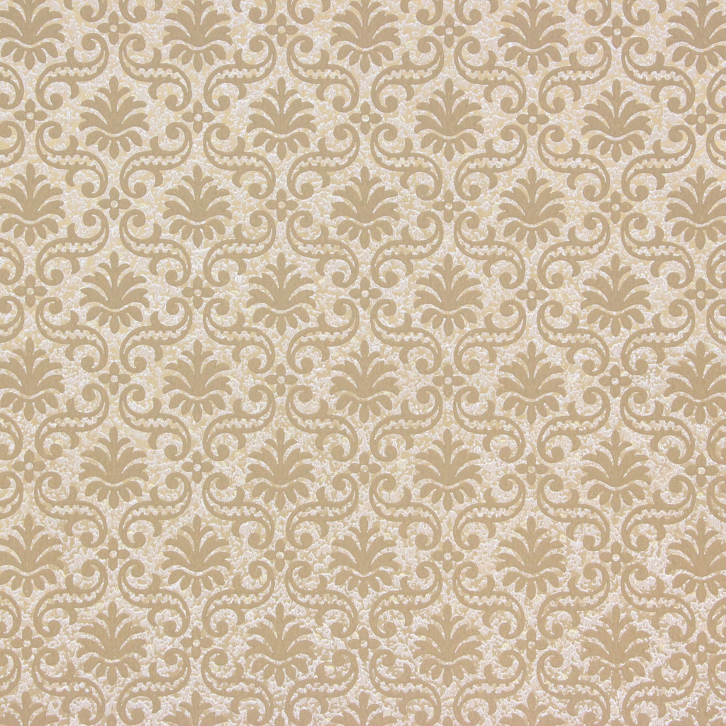 1950s Vintage Wallpaper Thomas Strahan Brown Gold Damask