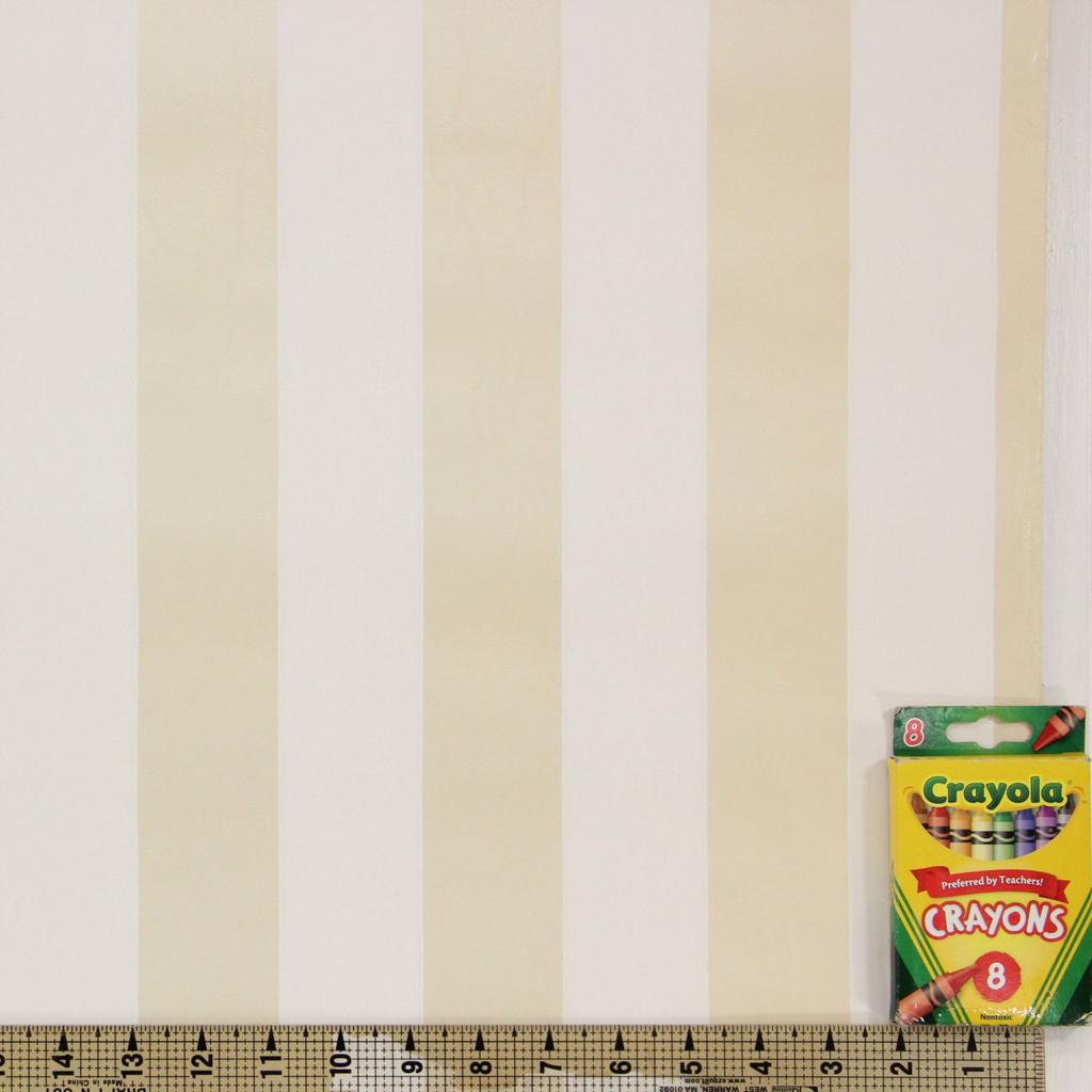 1950s Vintage Wallpaper Thomas Strahan Gold White Stripe