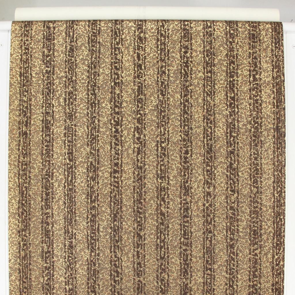 1950s Vintage Wallpaper Thomas Strahan Brown Stripe