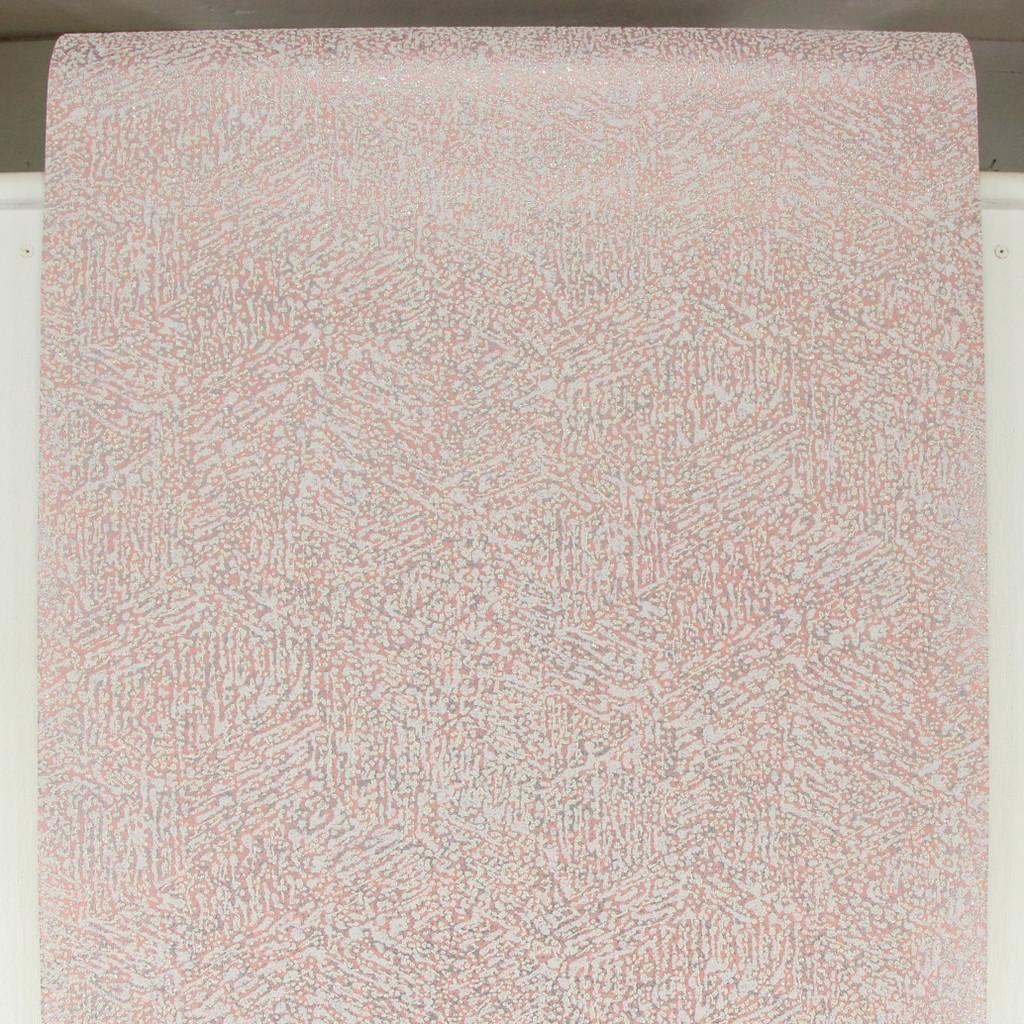 1980s Vintage Wallpaper Disco Metallic Pink